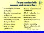 factors associated with increased public concern fear