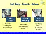 food safety security defense