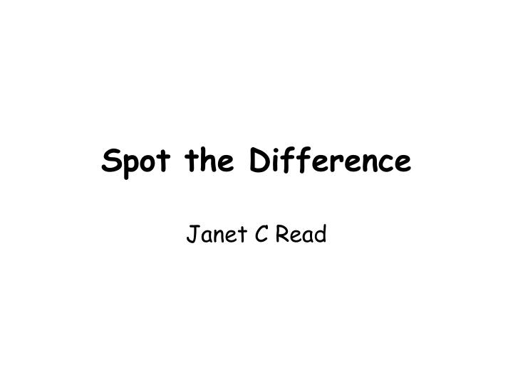 spot the difference n.
