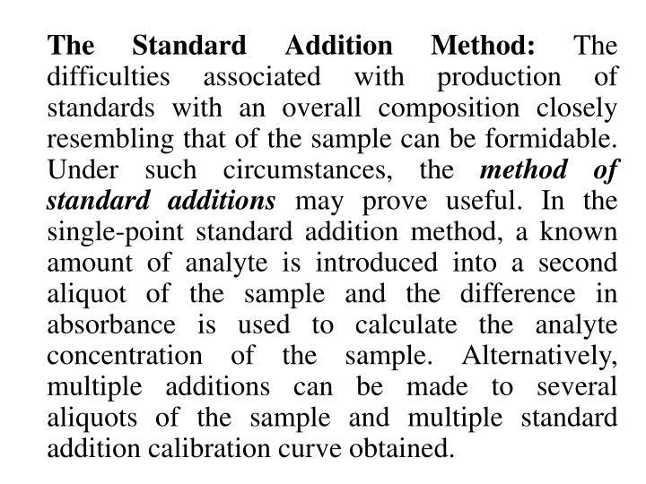 The Standard Addition Method: