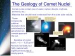 the geology of comet nuclei