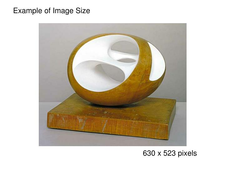 Example of Image Size