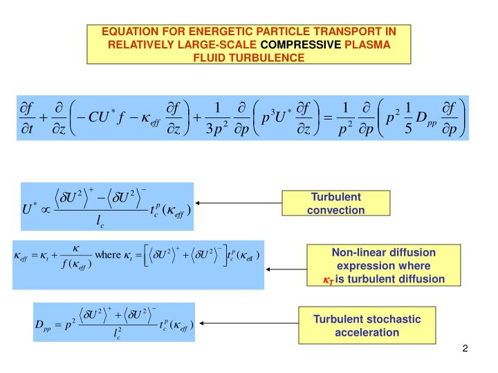 EQUATION FOR ENERGETIC PARTICLE TRANSPORT IN RELATIVELY LARGE-SCALE