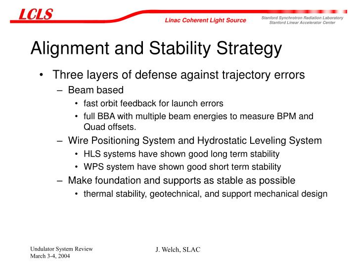 Alignment and Stability Strategy