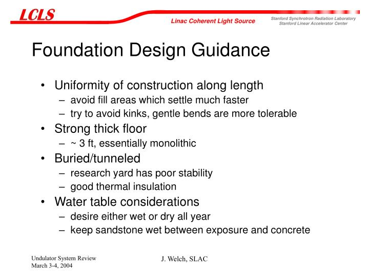 Foundation Design Guidance