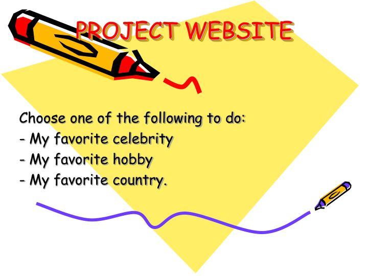 PPT - PROJECT WEBSITE PowerPoint Presentation - ID:6871494