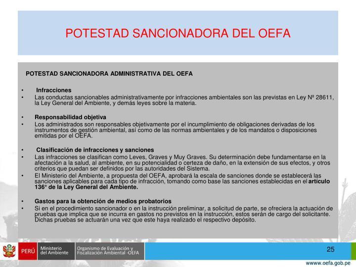 POTESTAD SANCIONADORA DEL OEFA