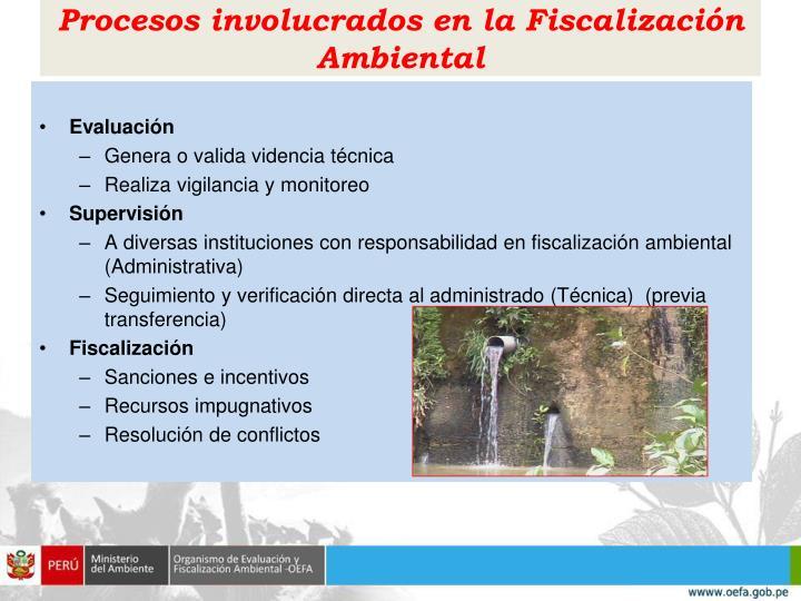 Procesos involucrados en la Fiscalización Ambiental