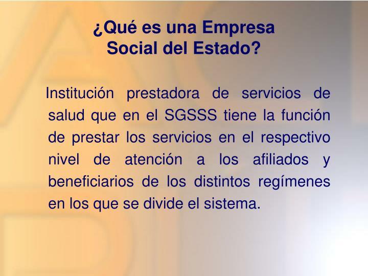 Qu es una empresa social del estado
