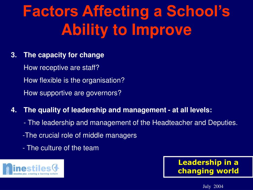 PPT - Transformational Leadership in Schools: the journey
