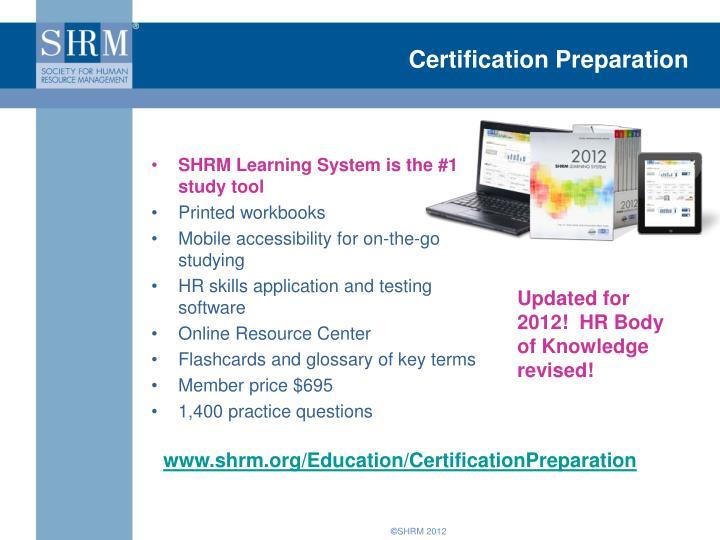 Certification Preparation