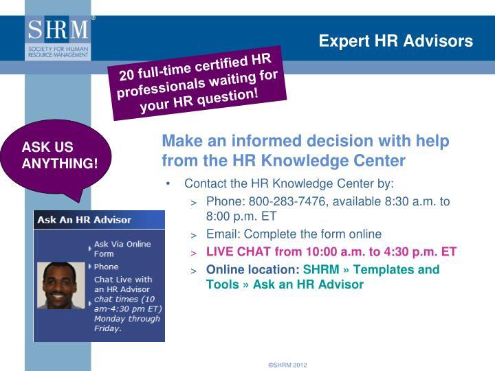 Expert hr advisors