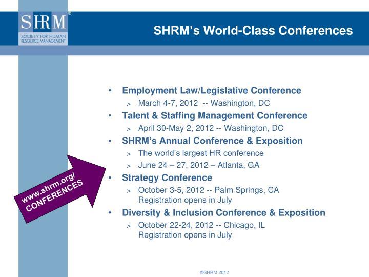 SHRM's World-Class Conferences