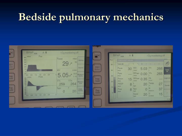Bedside pulmonary mechanics