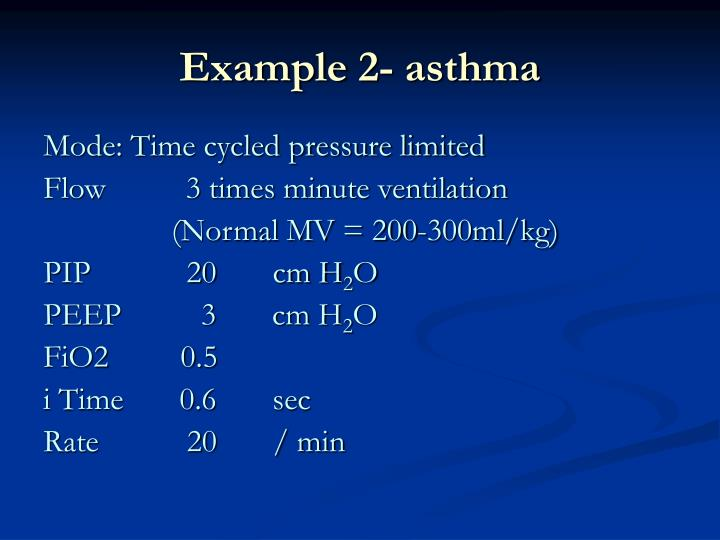 Example 2- asthma