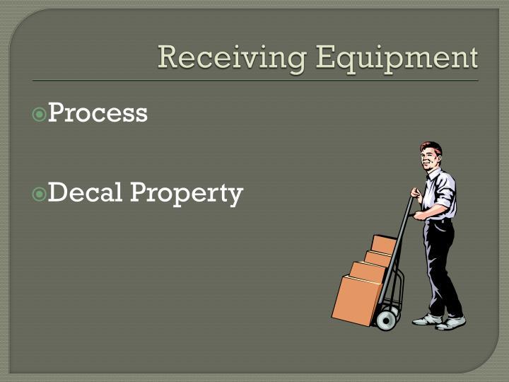Receiving Equipment