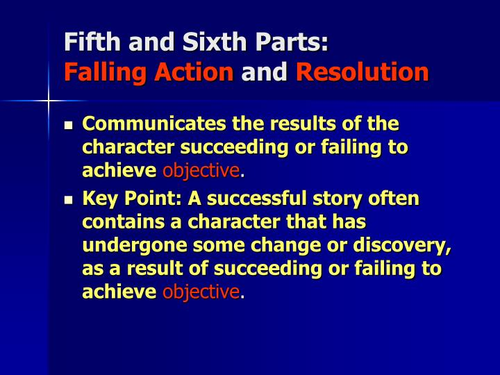 Fifth and Sixth Parts: