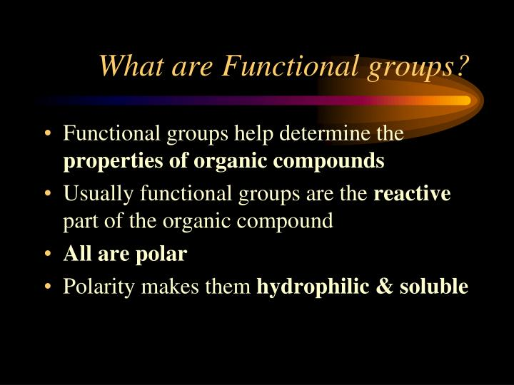 What are Functional groups?