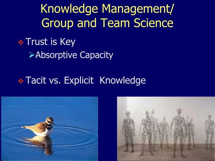 Knowledge Management/
