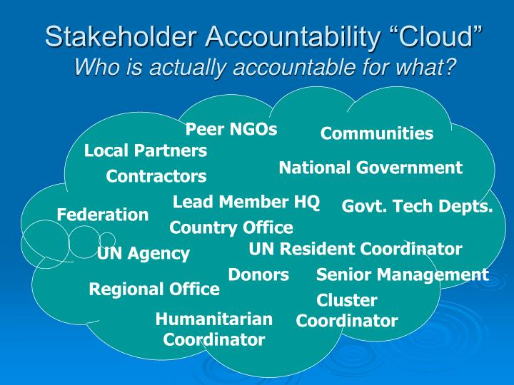"Stakeholder Accountability ""Cloud"""