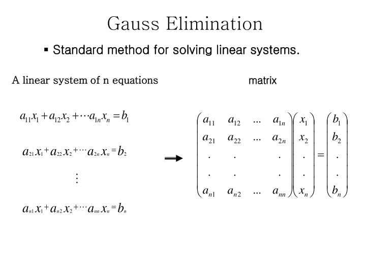 the algorithm of gaussian elimination Kc border the gauss-jordan and simplex algorithms 2 the simplex algorithm, a modified version of the gauss-jordan elimination algorithm, is used to find nonnegative solutions of linear equations.
