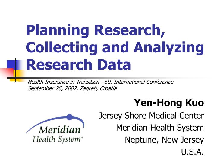 research design collecting and analyzing data