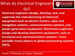 what do electrical engineers do