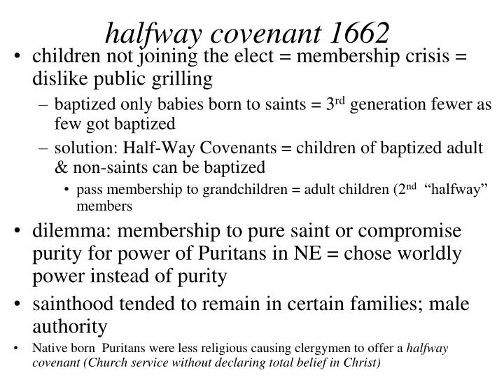 halfway covenant 1662