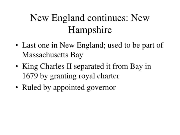 New England continues: New Hampshire