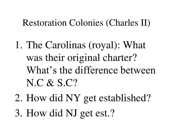 Restoration Colonies (Charles II)