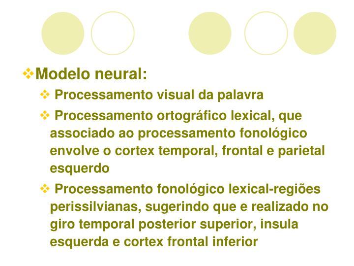 Modelo neural: