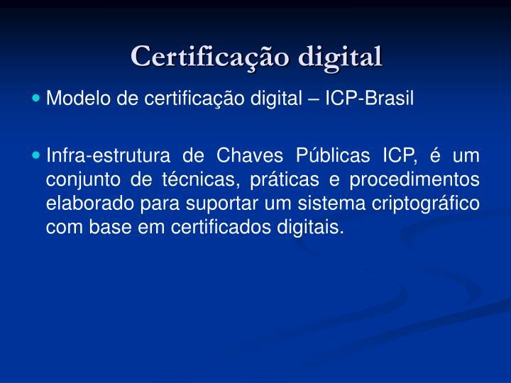 Certifica o digital