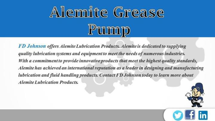 Alemite grease pump