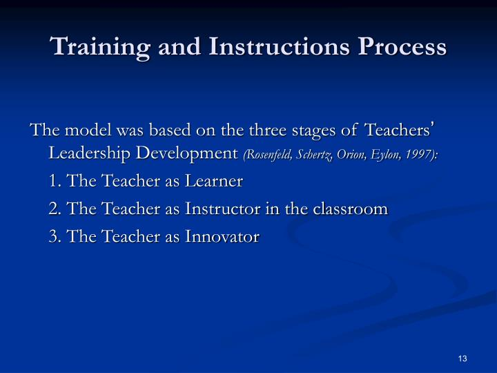 Training and Instructions Process