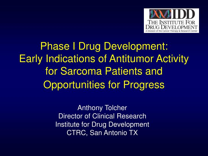 Phase I Drug Development:
