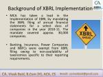 background of xbrl implementation