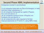 second phase xbrl implementation