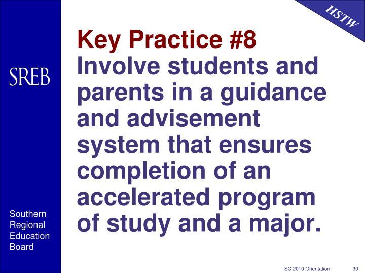 Key Practice #8