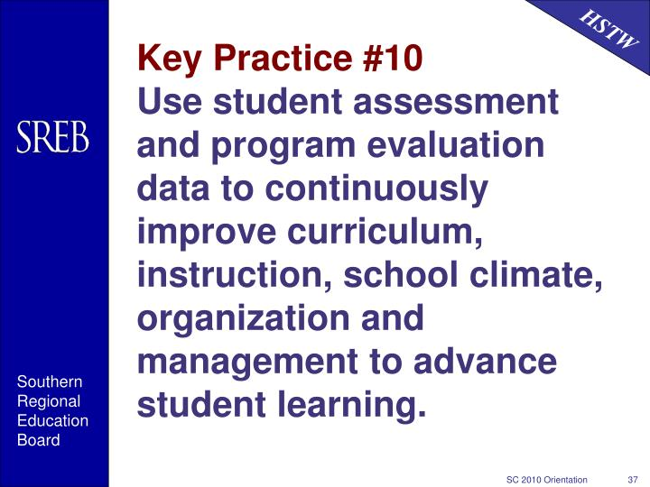 Key Practice #10