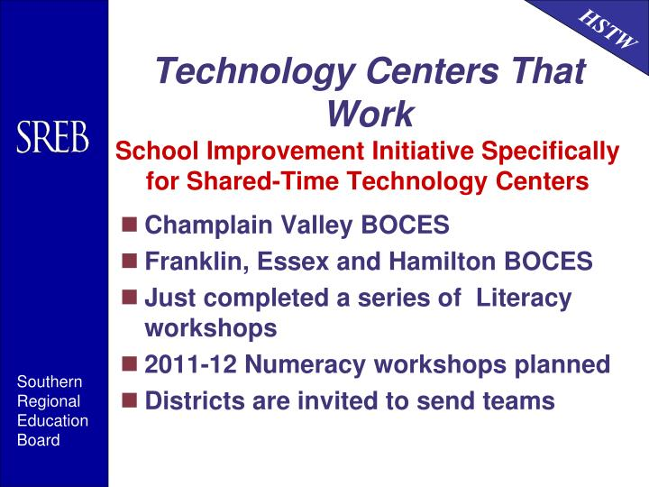 Technology Centers That Work
