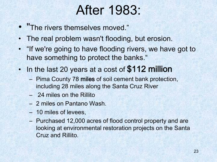 After 1983: