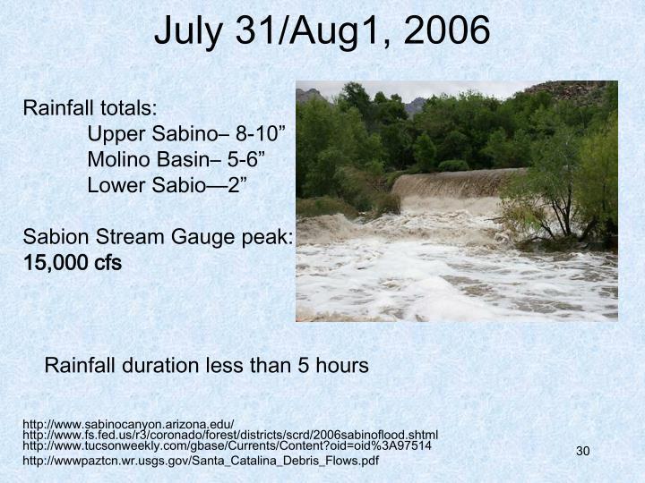 July 31/Aug1, 2006