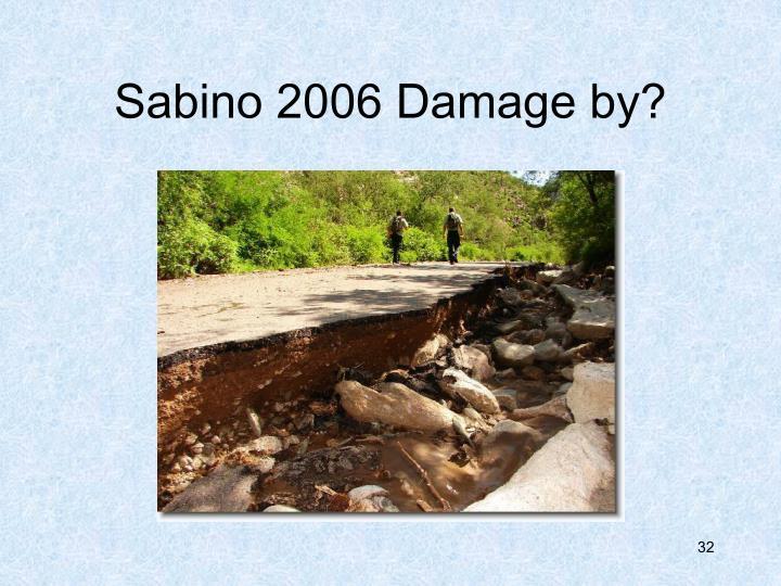 Sabino 2006 Damage by?