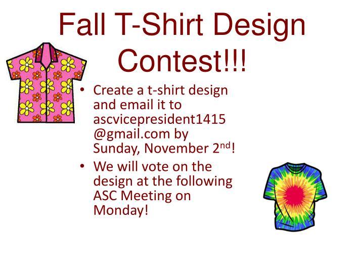 Fall T-Shirt Design Contest!!!