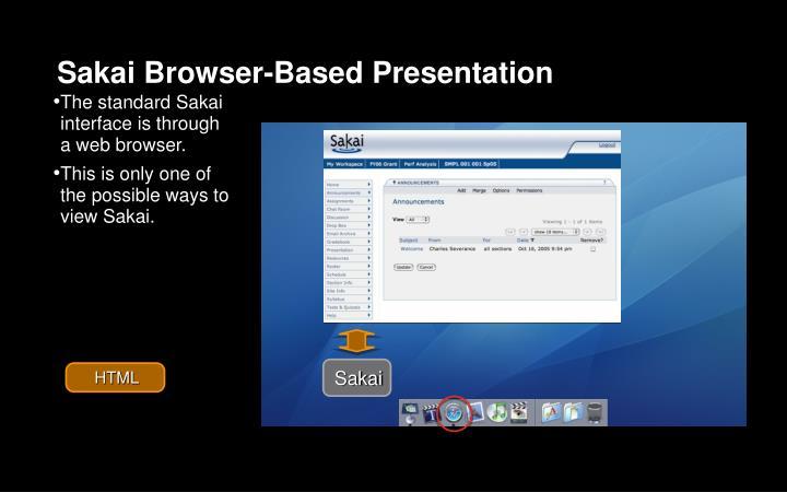 Sakai Browser-Based Presentation