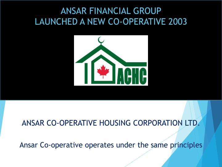 ANSAR FINANCIAL GROUP