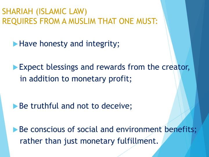 SHARIAH (ISLAMIC LAW)