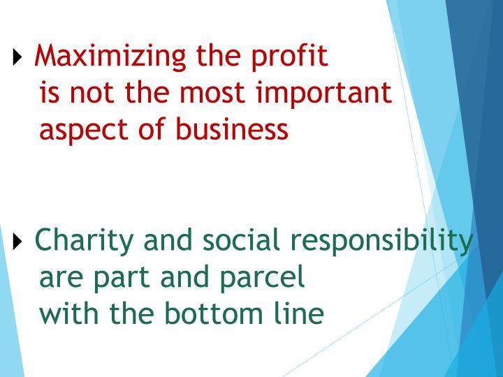 Maximizing the profit