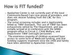 how is fit funded