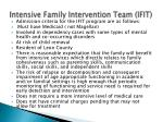 intensive family intervention team ifit